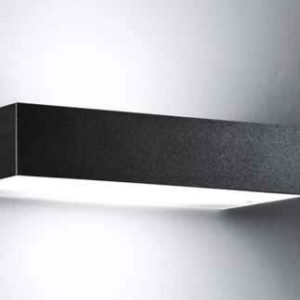Wandlampe außen schwarz schmal modern