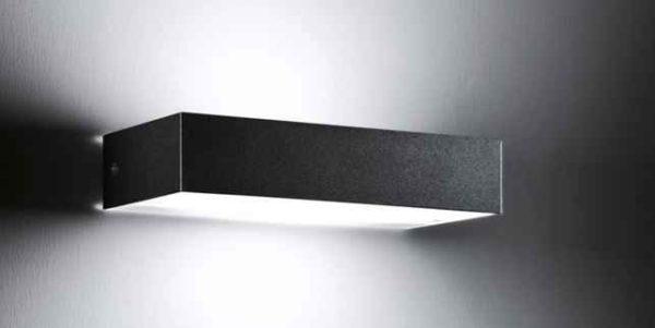 wandlampe au en schwarz schmal modern gartenleuchten. Black Bedroom Furniture Sets. Home Design Ideas