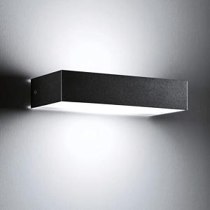 Wandlampe außen schwarz schmal
