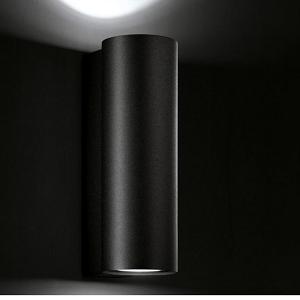 Wandlampe außen schwarz up down