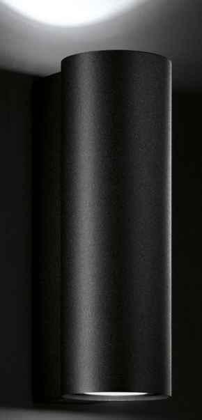 Wandlampe außen schwarz up down modern