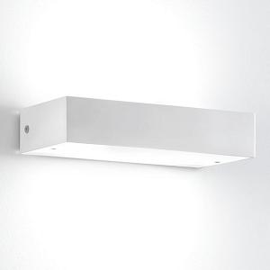 Wandlampe außen weiß schmal modern.