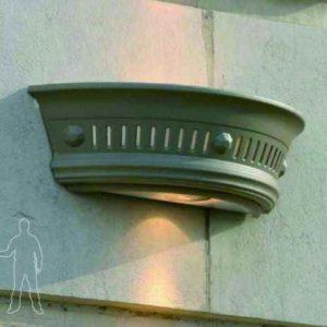 Wandschale mit Beleuchtung außen