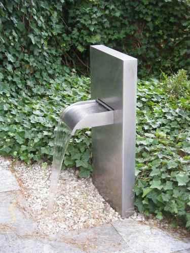 Au enbecken wasserfall brunnen mekong wand krauss wasserwand for Brunnen modern wasserfall