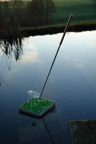 Wasserspiel Golfball