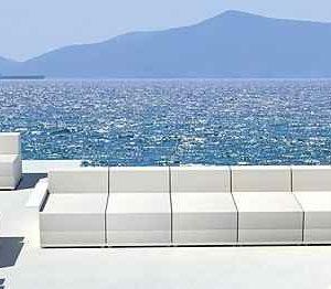 weiße Garten Loungemöbel
