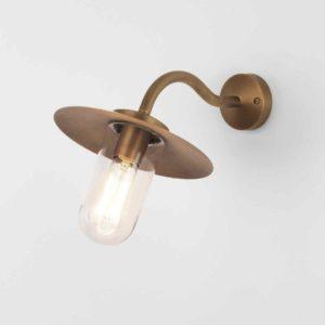 Altmessing Außen Stall Wandlampe