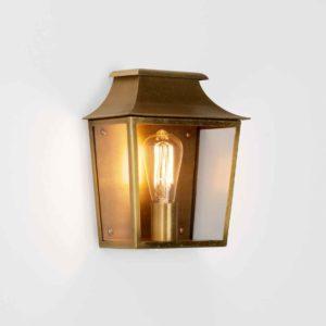 Altmessing Außen Wandlampe