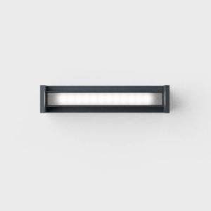 Drehbare schmale Außen Deckenlampe anthrazit