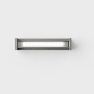 Drehbare schmale Außen Deckenlampe grau