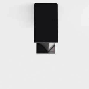 Drehbare schmale Außen Deckenlampe schwarz