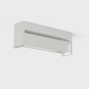 Drehbare schmale Außen Deckenlampe weiß
