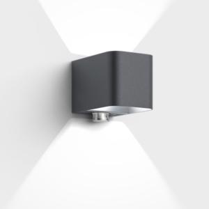 Hochwertige LED Bewegungsmelder Außenleuchte schwarz