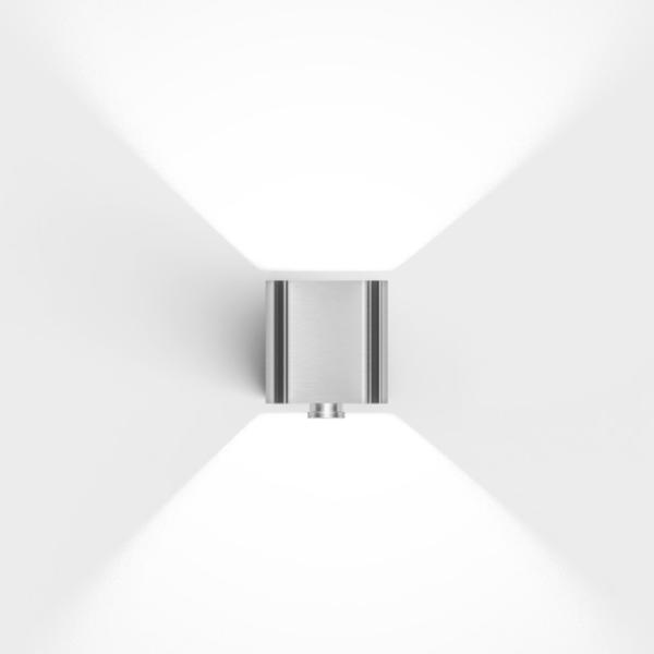 Hochwertige LED Bewegungsmelder Außenleuchte Edelstahl modern