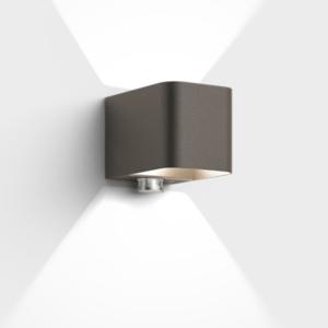 Hochwertige LED Bewegungsmelder Außenleuchte braun