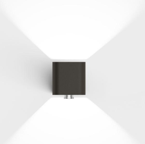 Hochwertige LED Bewegungsmelder Außenleuchte braun modern