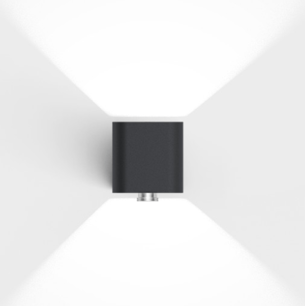 Hochwertige LED Bewegungsmelder Außenleuchte schwarz modern