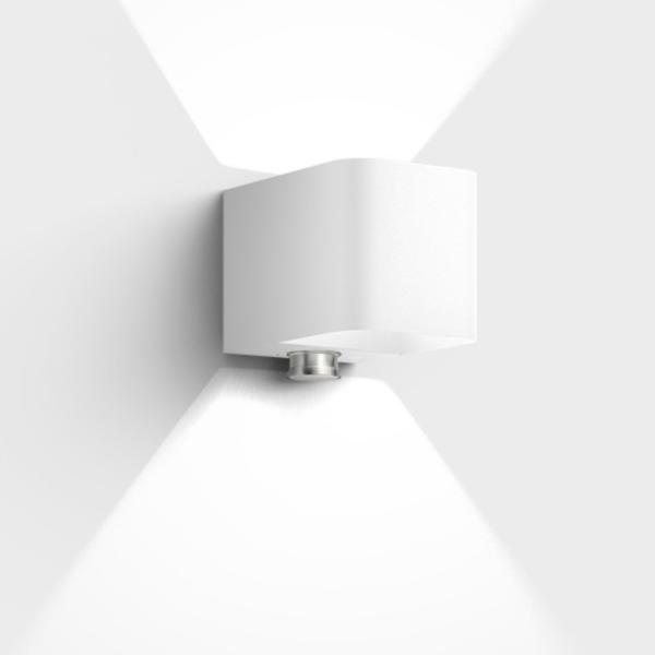 Hochwertige LED Bewegungsmelder Außenleuchte weiß