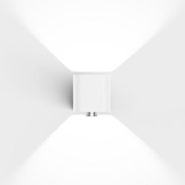 Hochwertige LED Bewegungsmelder Außenleuchte weiß modern