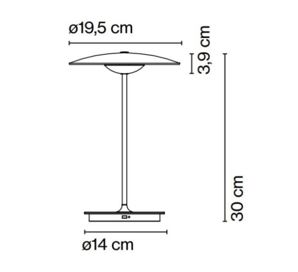 Holz Akku Tischlampe Abmessungen
