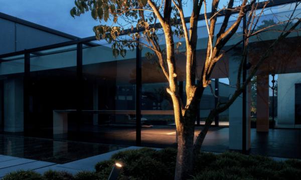 Puristischer Gartenstrahler LED