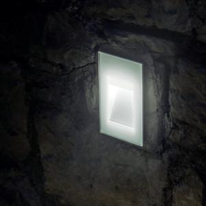 Glas Wand Einbauleuchte außen
