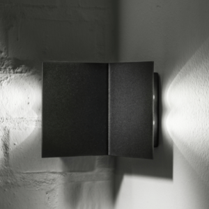 Eckleuchte Wandleuchte außen LED schwarz