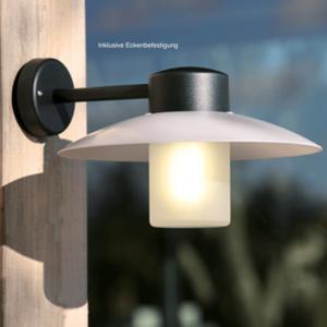Kleine Außenlampe geeignet für Hausecke