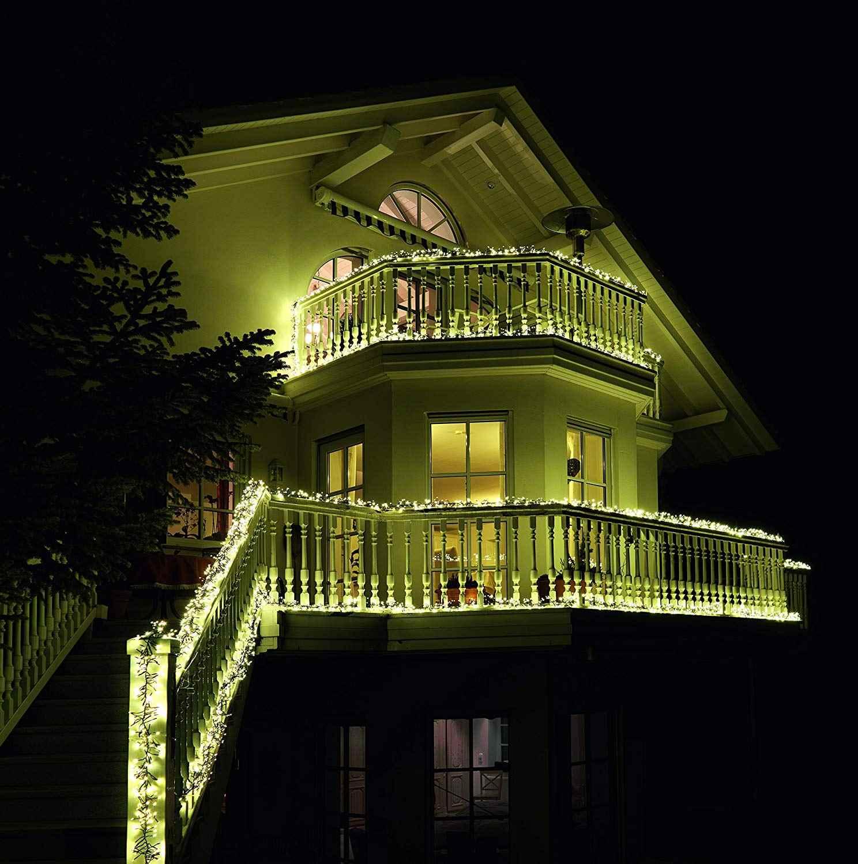 balkone weihnachtlich beleuchten mit lichterketten. Black Bedroom Furniture Sets. Home Design Ideas