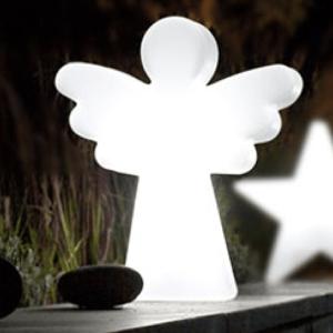 Kleiner leuchtender Engel für außen
