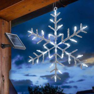 Leuchte Eiskristall außen mit Solar
