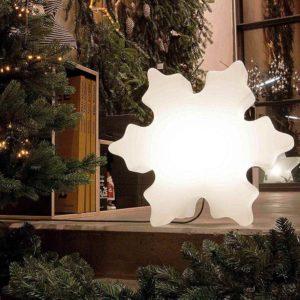 Leuchtender Eiskristall Weihnachtsbeleuchtung