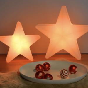 Leuchtender Weihnachtsstern mit Akku