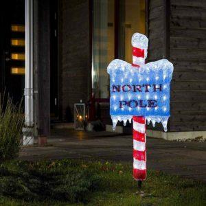 Originelle Weihnachtslampe außen