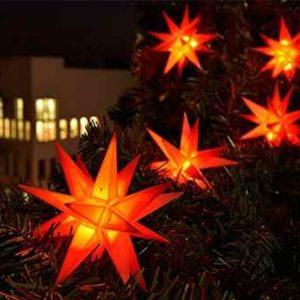 Weihnachtsbaum Kette Lichtsterne außen