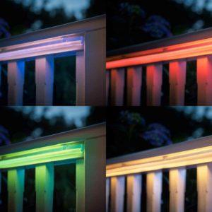 farbige Lichtstreifen außen