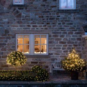 koppelbare Weihnachts Lichterketten außen