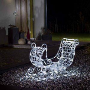 leuchtender Weihnachtsschlitten für außen