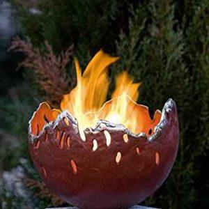 Bronze Skulptur Feuerstelle