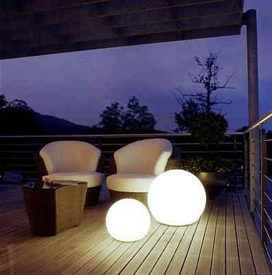 Moonlight Kugelleuchten auf der Terrasse