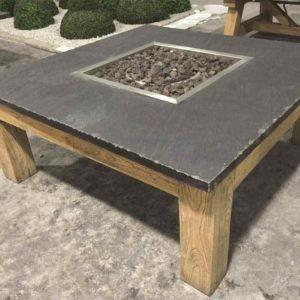 Schiefer Feuertisch für den Garten