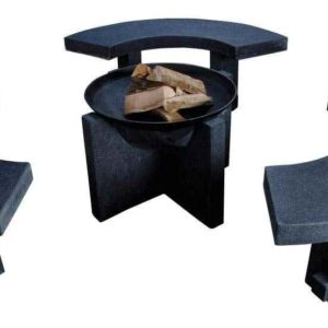 garten Feuerstelle mit Sitzbank