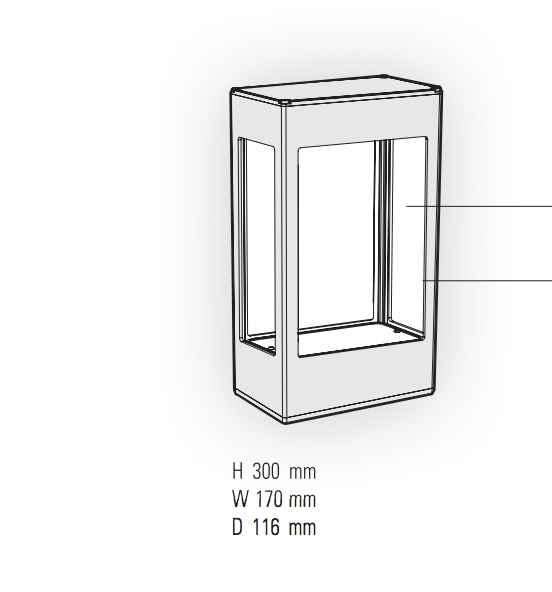 aluminium wandleuchte au en mit bewegungsmelder. Black Bedroom Furniture Sets. Home Design Ideas
