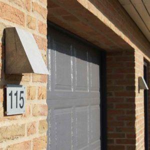 Beispiel für eine Hausnummerbeleuchtung