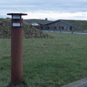 Dänische Rost Pollerleuchte Wegleuchte