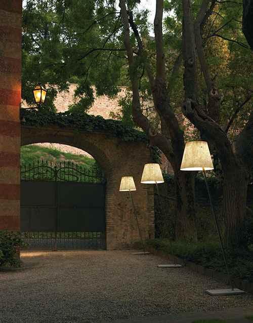 Designer Stehlampen für Hof und Garten