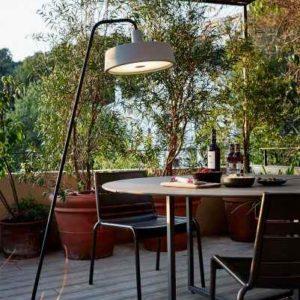 Designer Tisch Stehleuchte für außen