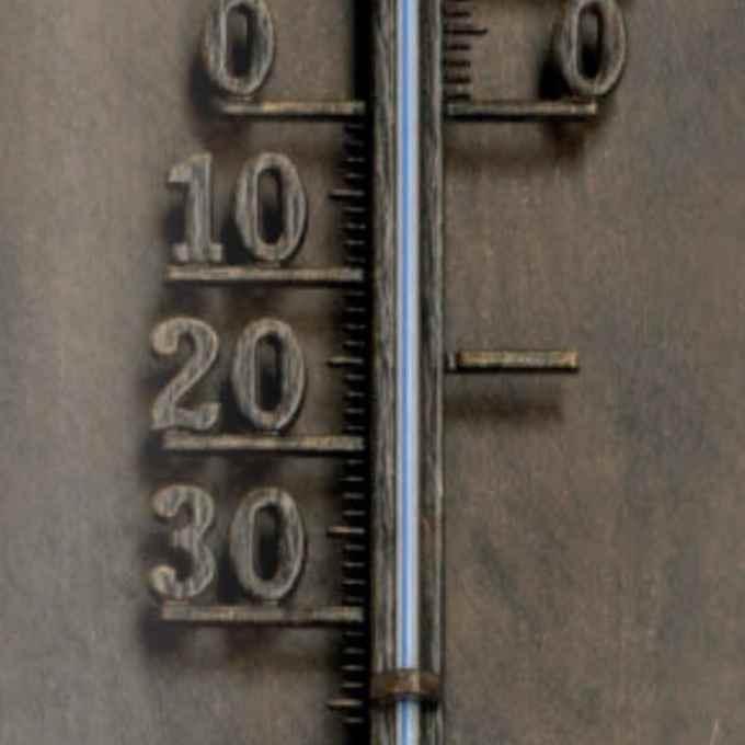 gro es thermometer au en aus handgefertigten schmiedeeisen. Black Bedroom Furniture Sets. Home Design Ideas