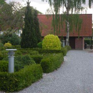 Typisch dänische Gartenleuchte