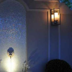 Außen Wandlampe in mit Kerzenoptik